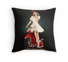 a ride Throw Pillow