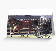 Horse and train race? Greeting Card