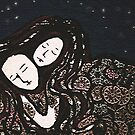 Asleep - couple asleep under a starry sky by Trish Loader