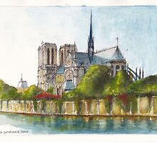 Notre Dame Cathedral, Paris by Dai Wynn