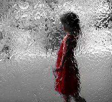 Contemplating red by Geraldine Lefoe