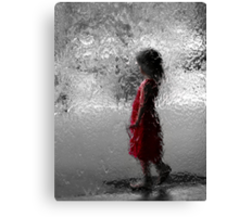 Contemplating red Canvas Print