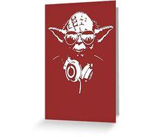 DJedi Yoda Greeting Card