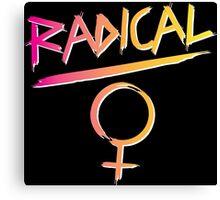 80s Radical Feminist Canvas Print