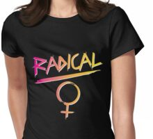 80s Radical Feminist Womens Fitted T-Shirt