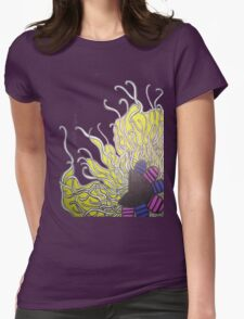 Abstract Flower with Tentacles Womens Fitted T-Shirt
