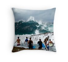 Getting Out! Throw Pillow