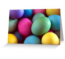 Dyed Easter Eggs Abstract Greeting Card