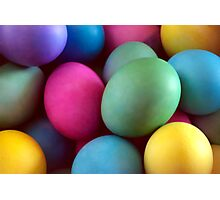 Dyed Easter Eggs Abstract Photographic Print