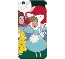 weird cats in wonderland iPhone Case/Skin