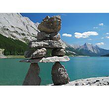 Inukshuk of Medicine Lake ~ Alberta Photographic Print