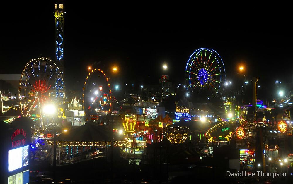 Florida State Fair Lights by David Lee Thompson