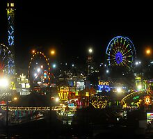 Florida State Fair Lights by David Lee Thompson