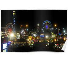 Florida State Fair Lights Poster