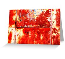 Plane red rust Greeting Card