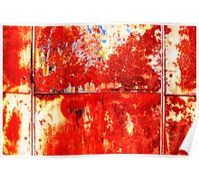 Plane red rust Poster