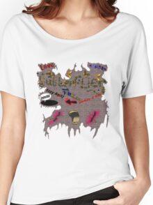 Butterflies and Bullets  Women's Relaxed Fit T-Shirt