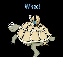 Turtle and Snail Having Fun and Buckled up! by graphicdoodles