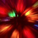 Tangled Christmas Lights Abstract by SteveOhlsen