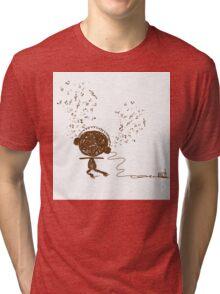 Music feeling Doodle Tri-blend T-Shirt