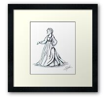 Girl with the Fine Dress Framed Print