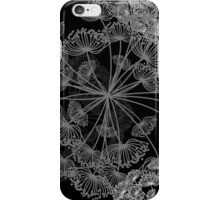 Queen Anne's Lace Floral pattern black grey white iPhone Case/Skin
