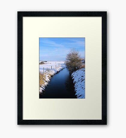 Winter river scene Framed Print