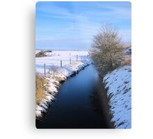 Winter river scene Metal Print