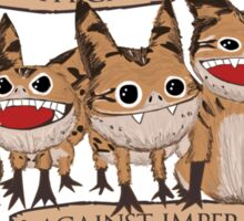 Loth Cats Against Imperialism Sticker