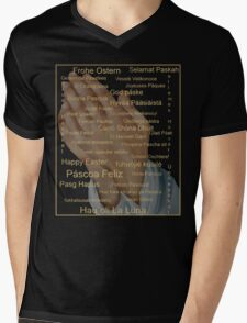 Happy Easter in all Languages Mens V-Neck T-Shirt