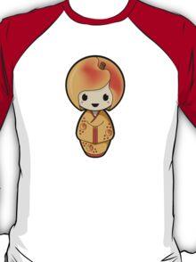 Peach Kokeshi Doll T-Shirt