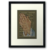 Happy Easter From Around The World (languages) Framed Print