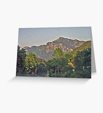 German Alps Greeting Card