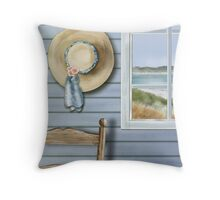 The Straw Hat Throw Pillow