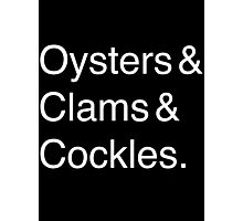 Oysters & Clams & Cockles Photographic Print