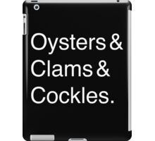 Oysters & Clams & Cockles iPad Case/Skin