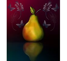 Pear with reflection Photographic Print