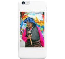 Pilgrim With Prayer Wheel iPhone Case/Skin