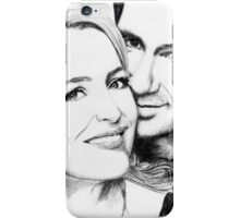 Gillian Anderson and David Duchovny - charcoal drawing iPhone Case/Skin