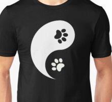 Yin and Yang - Paw Prints Unisex T-Shirt