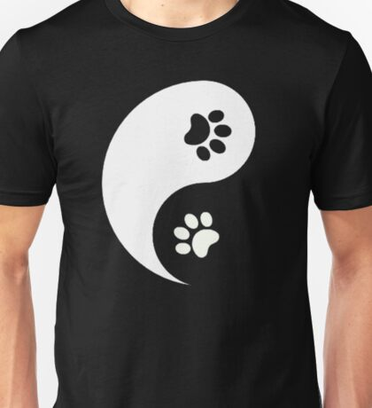 Yin and Yang - Paw Prints Unisex T-Shirt