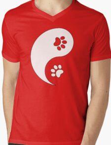 Yin and Yang - Paw Prints Mens V-Neck T-Shirt