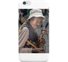 Woman With A Prayer Wheel iPhone Case/Skin