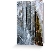 Abstract in Ice Greeting Card