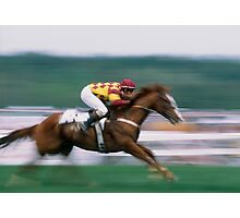 """""""Jockey and Horse in Motion"""" Photographic Print"""