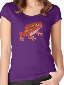 Frogs: Tomato Frog Women's Fitted Scoop T-Shirt