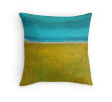 Chamisa in Bloom original painting Throw Pillow