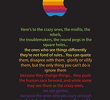Apple/ Steve Jobs The Crazy Ones  by zipperboi