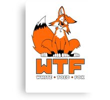 WTF - White Toed Fox Canvas Print