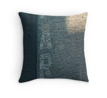 new york brick wall in half light Throw Pillow